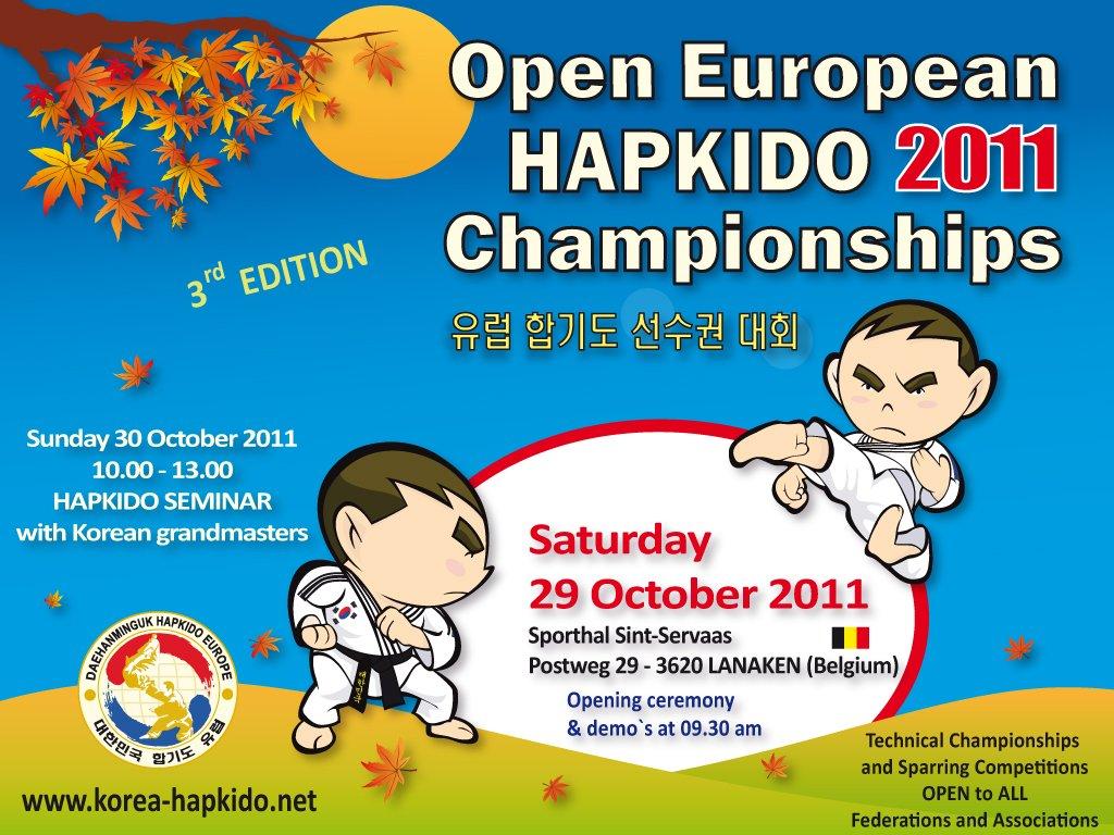 Campeonatos Abiertos Europeos de Hapkido 2011, un buen ejemplo de Competición 1